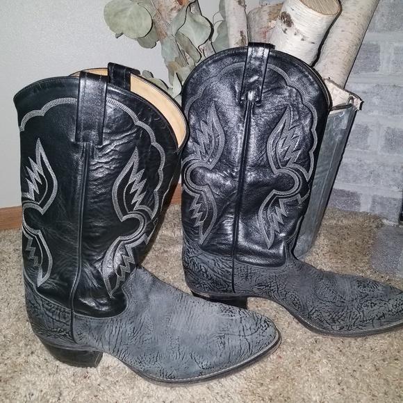 28cb9c97dc3 Authentic Tony Lama Black Sueded Boots